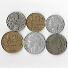 France 1947-1958 - Lot of 6 Coins #853