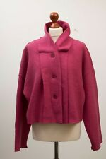 Gorgeous OSKA Pink Lagenlook Quirky 100% Pure Virgin Wool Jacket Size 2