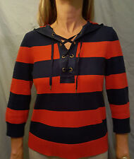 Ralph Lauren 3/4 Sleeve Striped Hoodie Women's Medium