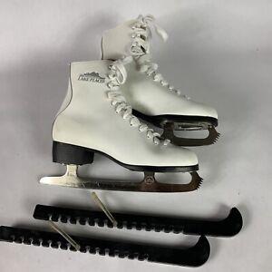 Women Lake Placid Ice Skates Size 7 Model 685 Leather Lining