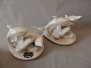 Capodimonte Celani Collectible Dolphins Porcelain