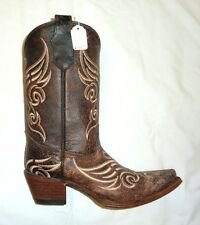 Circle G Corral L5002 Size 10M Womens Western Cowgirl Boots Distressed Bone NEW