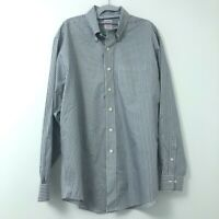 Brooks Brothers Mens Blue Stripe L/S Button-Down Shirt Large Non-Iron Supima