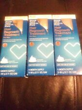 3 pack CVS HAIR REGROWTH TREATMENT FOR MEN  Exp 01/2019