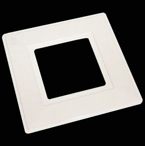 WHITE SINGLE LIGHT SWITCH FINGER PLATE SURROUND BACK PLATE PLASTIC UK SELL