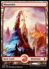 MTG MOUNTAIN #267 FOIL - MOUNTAIN FULL ART 3 - BFZ - MAGIC