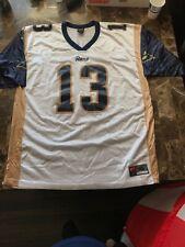 9fec84d8a KURT WARNER #13 LA LOS ANGELES ST. LOUIS RAMS NIKE NFL FOOTBALL GAME JERSEY