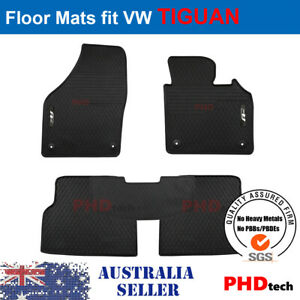 Prime Quality Rubber All Weather Car Floor Mats fit VW Tiguan R-Line 2007-2017