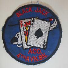 Patch - BLACK JACK - ACE HIGH GUNS - 4th Aviation Helicopter - Vietnam War, 2135