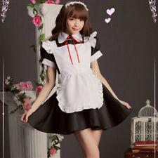 Women Girl Maid Dress Lolita Costume Ruffle Japanese Cosplay Uniform Waitress