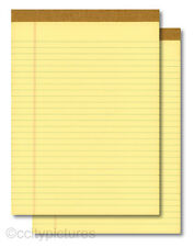 "(2) 8.5""x11"" 100 Sheet Yellow Writing Paper Note Pads - New"