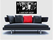 "Hip Hop Montage sin bordes de azulejo mosaico Pared Poster 35 ""X25"" Rap Dr Dre Snoop Cubo"