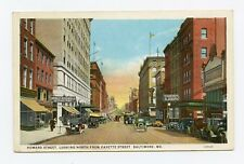 Howard Street, Looking North from Fayette Street in Baltimore, MD Postcard