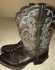 Ariat Womens Legend Square Toe Cowboy Western Brown Oiled 7B 10001046 15825