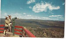 FUNNY HATS! Observation Deck Top Mt & Lake SUNAPEE New Hampshire NH Postcard