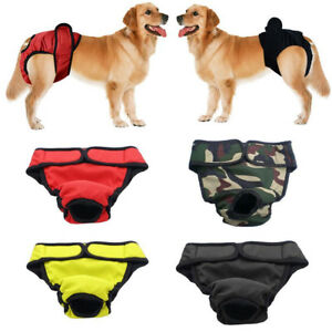 Reusable Dog Diapers Female Washable Nappies Changing Pet Sanitary Pant