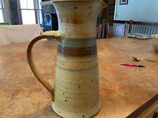 Zappa Handmade Pottery Stoneware Browns Decorative Pitcher Large Signed