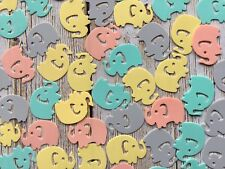 200 Colour Mix Elephant Confetti Baby Shower Christening Birthday Party