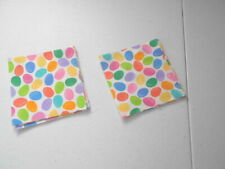 """20 4"""" Pre-Cut Quilt Squares EASTER EGGS OR JELLY BEANS #6"""
