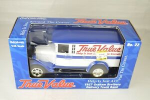 Never Opened Ertl True Value #22 1927 Graham Bros Delivery Truck Bank Mint W/Box