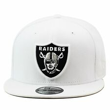 New Era Oakland Raiders Snapback Hat Cap All WHITE/Regular/Grey Bottom