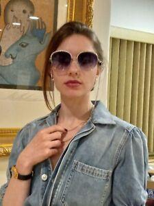 Chanel Chain Sunglasses silver  gray Lens