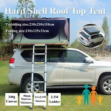 Hard Black Shell Aerodynamic Foldable Roof Top Tent Camping Rooftop 2.1x2.1M