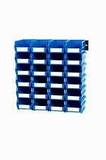 Triton Products Wall Storage - Sm Blue Bins/Rails 26 CT