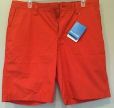 Columbia Men's Size 34 W X 10 L Orange Washed Out Casual Shorts NEW w/Tags