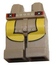 LEGO NEW DARK TAN MINIFIGURE PANTS LEGS WITH YELLOW MARKINGS