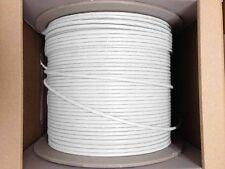 Cat6 Plenum 1000ft Ethernet CMP 23AWG UTP Network Solid Bulk Cable  White