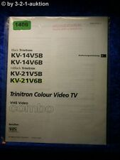 Sony Bedienungsanleitung KV 14V5B /14V6B /21V5B /21V6B Color Video TV (#1406)