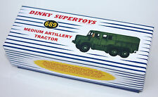 DINKY Reproduction Box 689 Medium Artillery Tractor