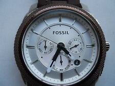 Fossil chronograph mens silicon rubber band watch.fs-4596.quartz,Analog& battery