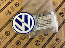 Genuine VW Beetle Golf Mk4 R32 Alloy Wheel 56mm Centre Cap Blue/White NEW