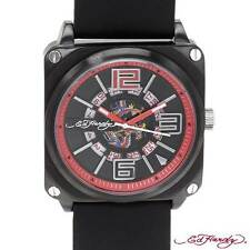 Ed Hardy Date watch Black Red  NWT