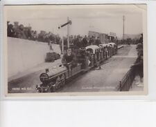 RARE VINTAGE POSTCARD PORTSMOUTH. SOUTHSEA MINIATURE RAILWAY. TRAIN STATION.