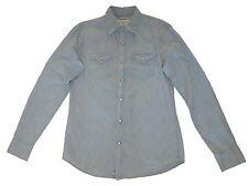 Ralph Lauren Denim and Supply Blue Indigo Slim Western Snap Shirt Medium
