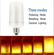 E27 5W LED SMD 1300K Flicker Flame Fire Yellow Corn Light Lamp Bulb AC110-240V