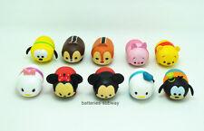 Lot 10 pcs Mickey Minnie Donald Daisy Winnie the Pooh Tsum Tsum Action Figures