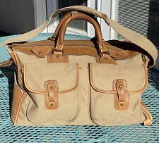 Vintage Original Ghurka Express No 2 Marley Hodgson Bag Twill and Leather 1982