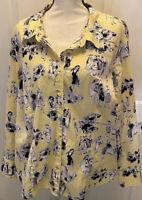 Lane Bryant Women's Blouse Top  Size Plus 22/24 Long Sleeves Casual Top  Fashion