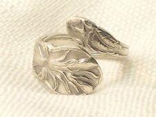 Estate Sterling Silver Gorham Zodiac August Cardinal Flower Spoon Ring