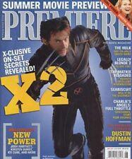 HUGH JACKMAN WOLVERINE PREMIERE MAGAZINE JUNE 2003 FEATURING KIRSTEN DUNST AND J