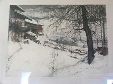 Early Luigi Kasimir Etching Signed Ltd Edition Print Cortina D' Ampezzo c.1925