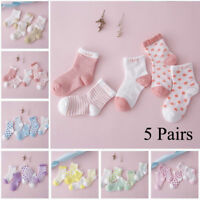 5Pairs Newborn Baby&Boy Girl Cartoon Cotton Sock Infant Toddler Soft Sock ID