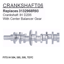 CRANKSHAFT06 Case Tractor Parts Crankshaft IH D206 IH 584, 585, 595, TD7C