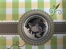 Mint 1/2 oz 99.99% Silver Proof 2017 Newborn Baby Gift Coloured 50 Cent Coin