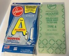 New 3 Pack Hoover Type A Allergen Vacuum Cleaner Bags And 2 Hoover Regular Bags