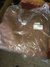 Mulholland Brothers Brown Leather Simple Garment Bag New Sealed With Tags